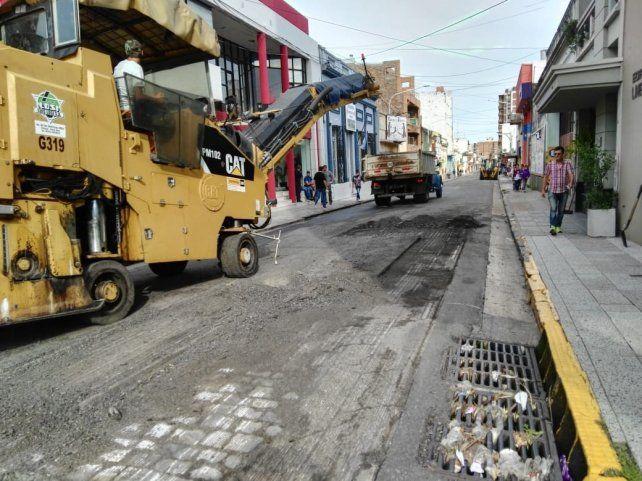 En la ciudad se encaran distintos frentes de obras viales