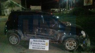 Una gresca en Paraná terminó con persecución policial, vuelco y dos detenidos