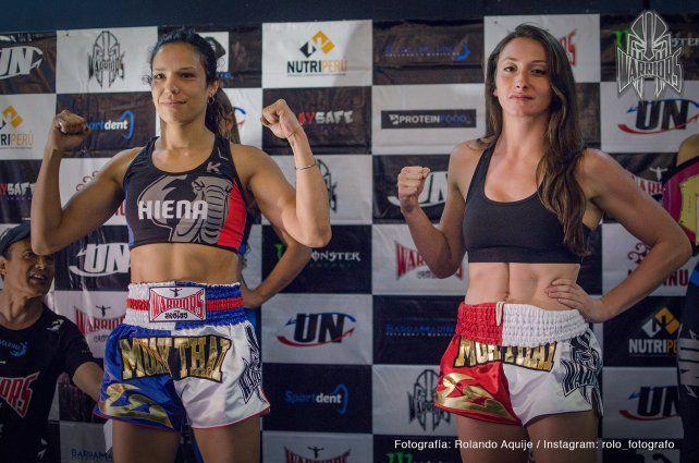 Giuliana (izquierda) dominó a la europea que tiene más de 30 peleas como profesional.