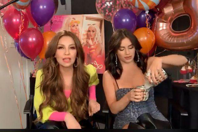 Lali Espósito le dio mate a Thalía: su reacción