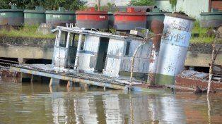 Vendida. La embarcación había sido rematada un tiempo atrás. Foto: Mateo Oviedo.