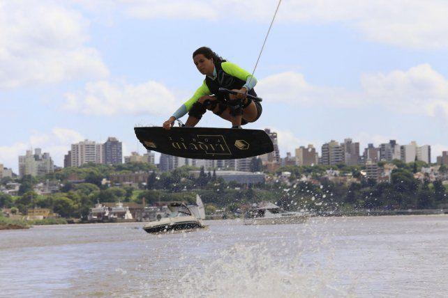 Vicky de Armas entrenando en Paraná.