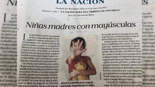 Repudio masivo a una editorial de La Nación que habla de Niñas madres