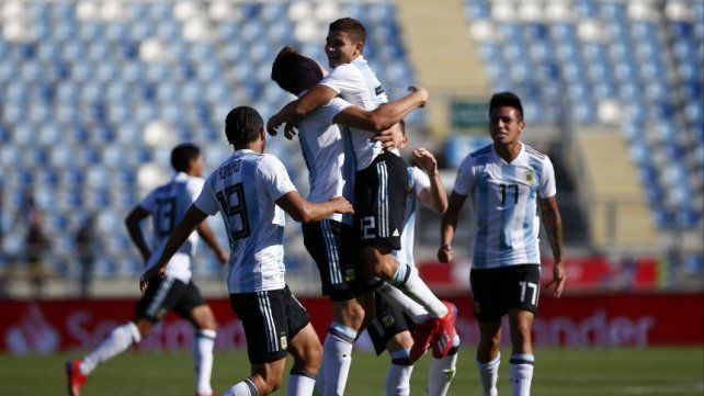 Argentina festejó ante Colombia en el Hexagonal