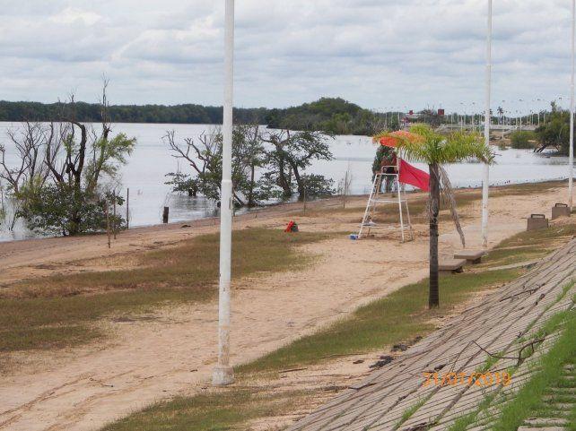 Regreso. El río vuelve a su cauce y las playas comienzan a aparecer.