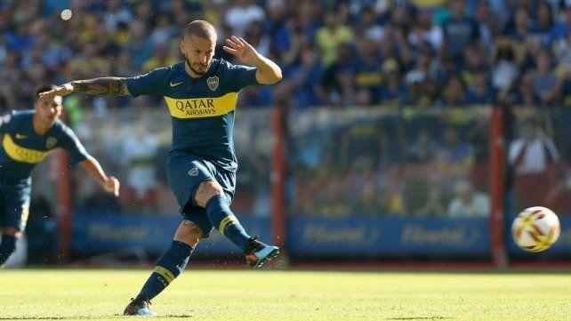 El Pipa marcó el gol a los 13 minutos