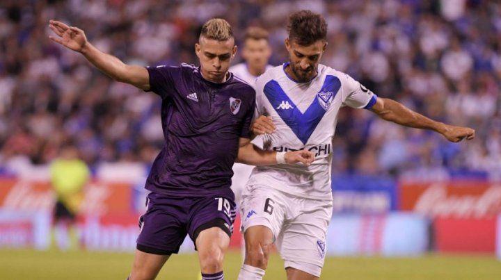 Borré marcó el primer tanto ante Vélez en River.