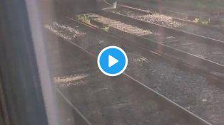 Dos personas que viajaban en el techo de un tren recibieron una descarga de 25.000 voltios y están graves