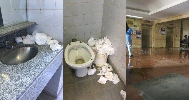 Por falta de mantenimiento en los baños, piden extender la feria judicial
