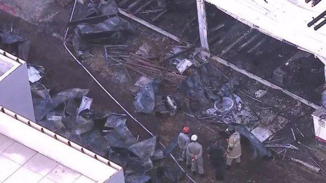 Las primeras imágenes del Complejo Deportivo dañado por las llamas.