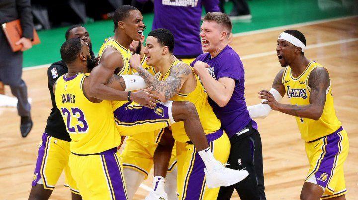 El increíble partido que ganaron los Lakers