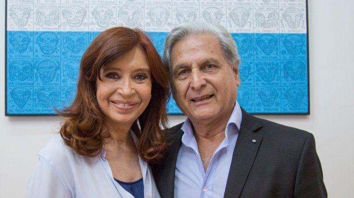 Julio Solanas se muestra con Cristina Fernández y sostiene las expectativas