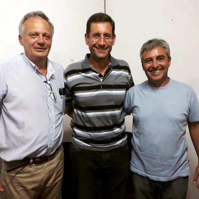 Fórmula. Brupbacher (en el medio) presentó el binomio Weiss-Heft (Foto gentileza Sergio Dante Moreira).