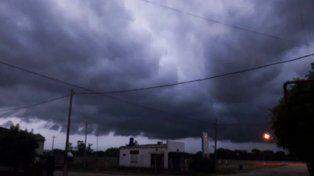 Así llegaba la tormenta al sur entrerriano.