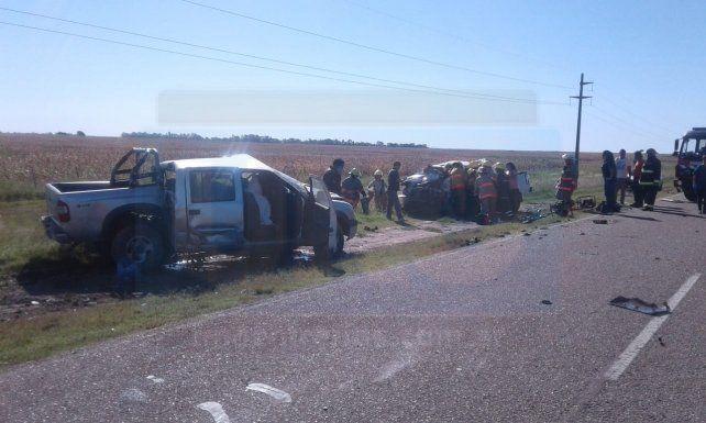 Choque con muertos. Cerca de Hernández se registró el incidente en la tarde de este martes.