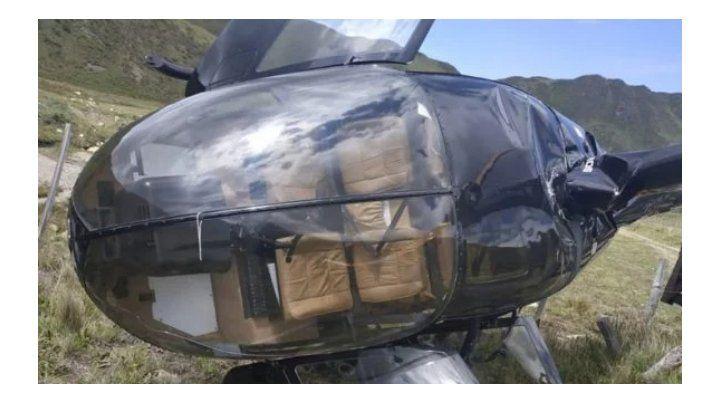 Impresionantes videos del aterrizaje forzoso de un helicóptero en Mendoza