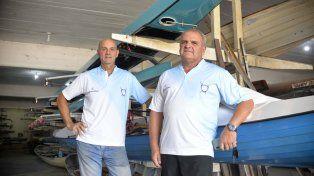 Entusiasmados. Los dirigentes y organizadores del Paraná Rowing Club, Pablo Moreyra y Norberto Gallino, se mostraron ilusionados con esta actividad que se realizará el domingo 24.