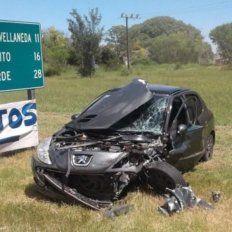 Otro accidente en La Picada: cuatro jóvenes fueron hospitalizados