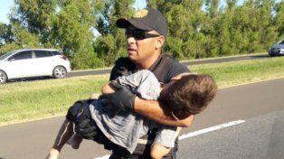 La impactante foto pertenece a los Bomberos Voluntarios de Ceibas durante un accidente ocurrido este fin de semana en la ruta 12.