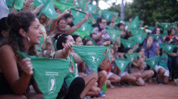 los panuelos verdes volvieron a la calle por el aborto legal