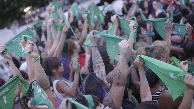 Los pañuelos verdes volvieron a la calle por el aborto legal
