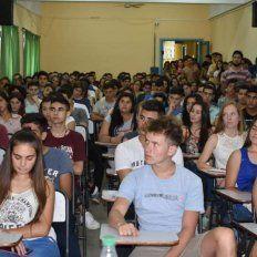 Ciclo de ambientación. Unos 1.000 estudiantes participaron en la Facultad de Ciencias de la Salud.