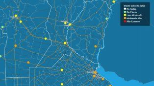 Calor: Elevaron a naranja el nivel de alerta para una parte de Entre Ríos