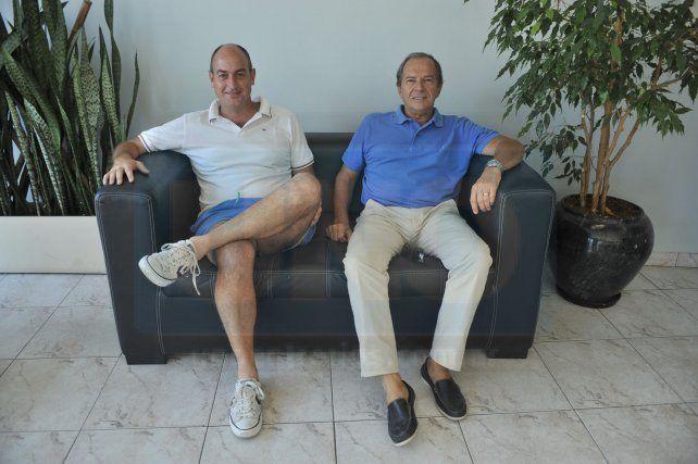 Organizadores. Andrés Solioz y Alberto Sampayo trabajaron y mucho para poder realizar la 10ª versión de una prueba que llegó para instalarse en esta zona.