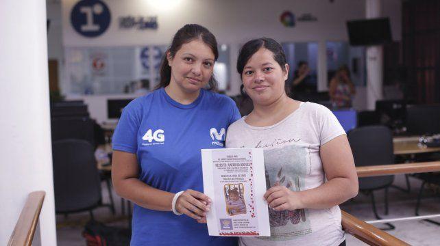 Celia y Carla recalcaron que Mariam necesita de la ayuda de todos para tener una mejor calidad de vida