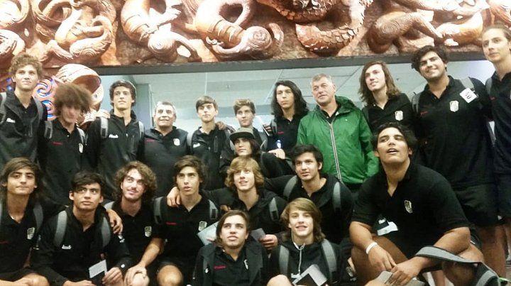 Los juveniles del CAE jugaron su primer partido en Nueva Zelanda