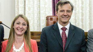Fórmula. Zoff y Bahl en una actividad en el Senado provincial.