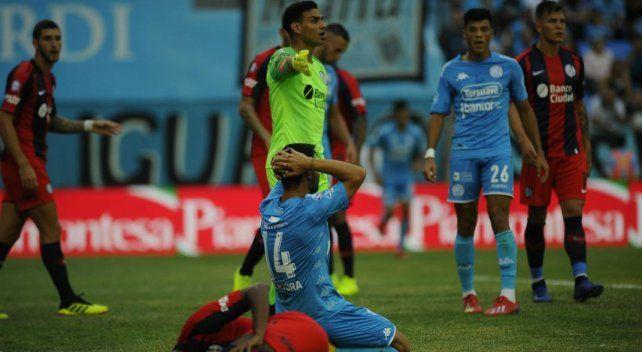Belgrano volvió a empatar y sigue en descenso