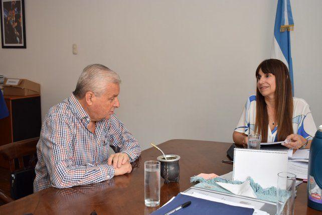 Lauritto y Velázquez hablaron de avanzar en acuerdos y compromisos para la ciudad.