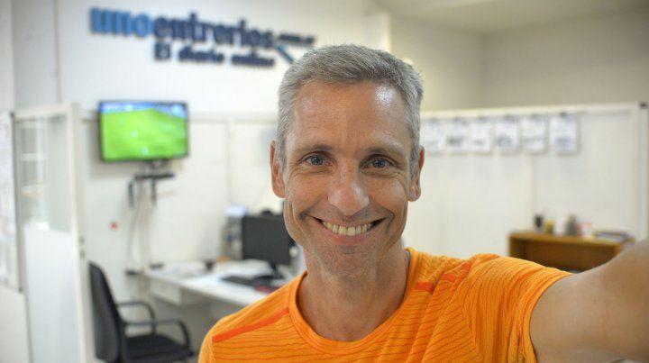 Elias Uner visitó la redacción de UNO.