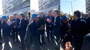 El incómodo momento que vivió Macri ante el reclamo de un trabajador: Estamos en crisis, haga algo