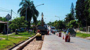 Se reconstruye avenida Jorge Newbery