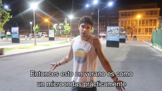 VIDEO: Julián Serrano recorrió Paraná para sus seguidores