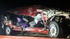 ruta 14: padre e hijo perdieron la vida en un accidente de transito