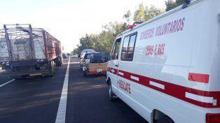 Un choque en la ruta 12 involucró a cuatro vehículos