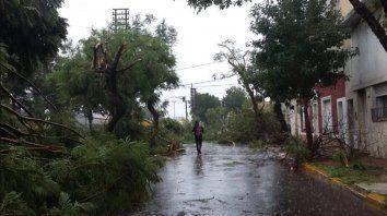feroz temporal de lluvia, viento y granizo provoco graves destrozos en santa fe y cordoba