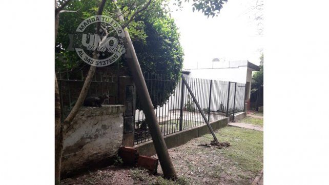 El agua alcanzó 80 centímetros en viviendas del barrio Paraná XIV
