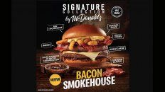 mcdonalds presenta bacon smokehouse, una nueva hamburguesa de la linea signature