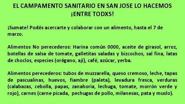 Verzeñassi y Marino llegarán con el Campamento Sociosanitario a San José