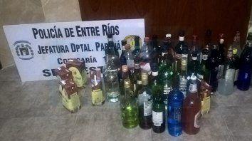 la policia secuestro 36 carros de supermercados cargados con bebidas alcoholicas en el #upd2019