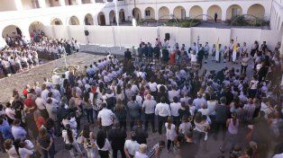 Alumnos del Plaza Mayor iniciaron el año lectivo en su nuevo espacio en el Seminario de Paraná