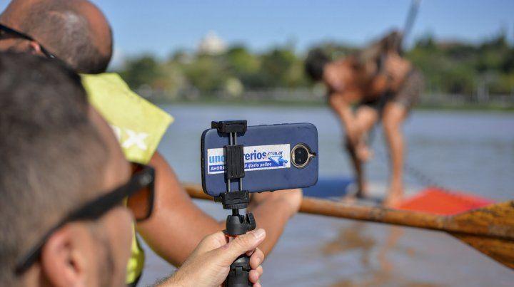 Transmitir desde el río es una ventaja que da la tecnología.