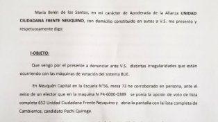 Denuncian irregularidades con el voto electrónico en Neuquén
