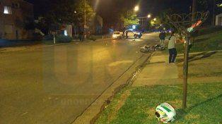Motociclista fue trasladado al San Martín tras colisionar su moto con un automóvil