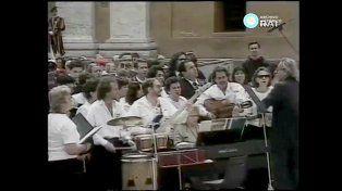 El día que el Coro Estable de Concordia le cantó al papa Juan Pablo II