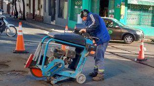 Por obras, hay desvíos de tránsito en calle España